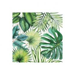 20 serviettes de table 'Tropical Leaves'
