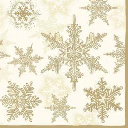 20 serviettes de table 'Flocon or'